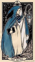 picture of The Hermit tarot card
