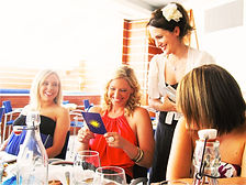Melbournes best tarot card reader Julia reading at restaurant hen party