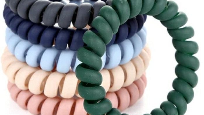 Lot de 5 Chouchous / bracelets 2 en1 en spirale