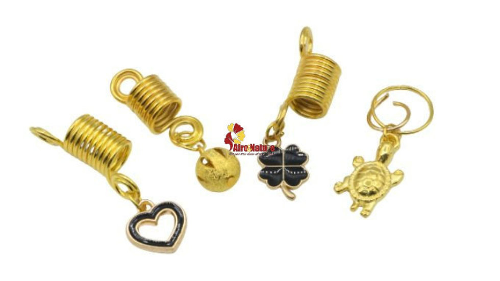 Lot of 4 jewelry for braids, twists or dreadlocks