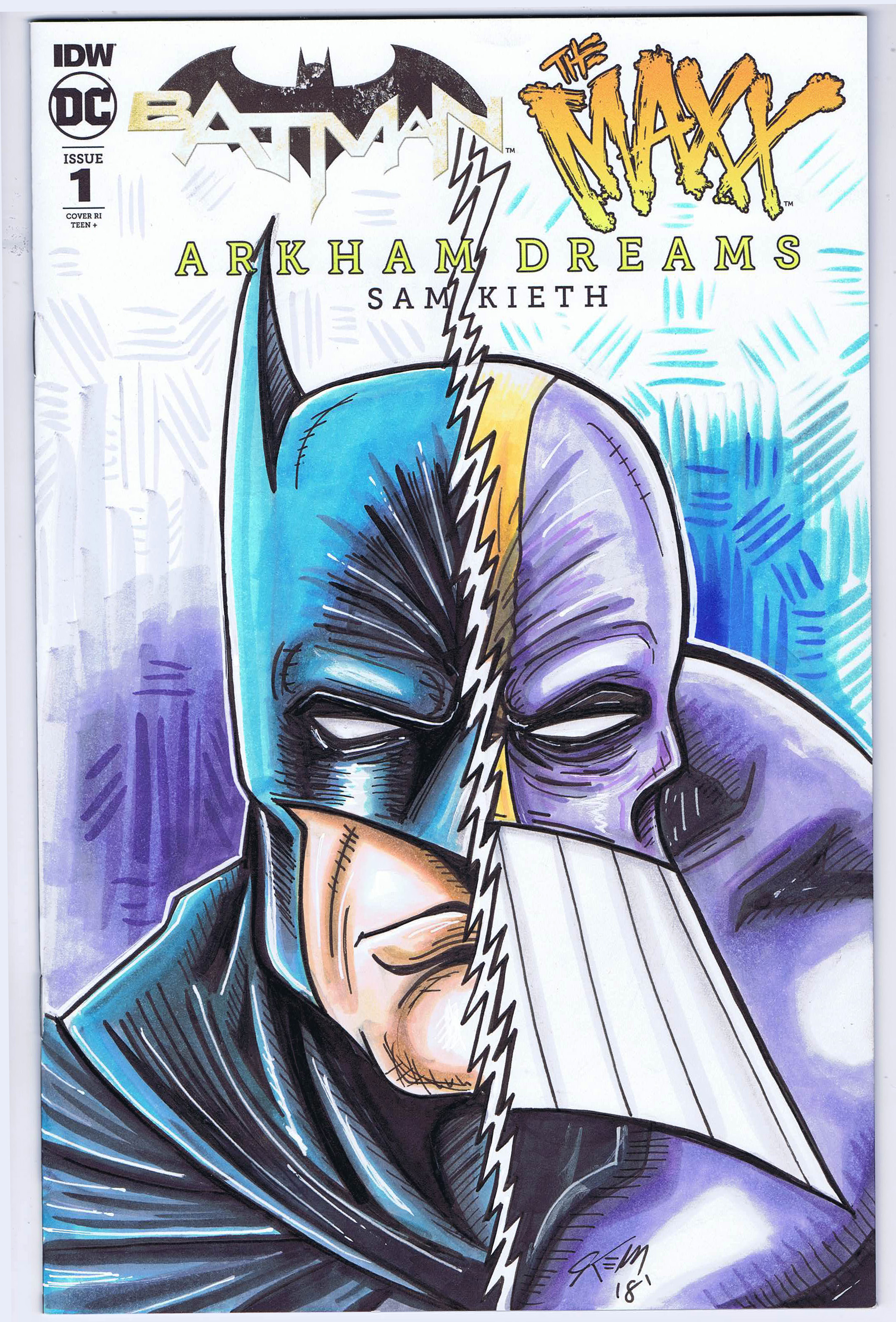 batman maxx sketch cover