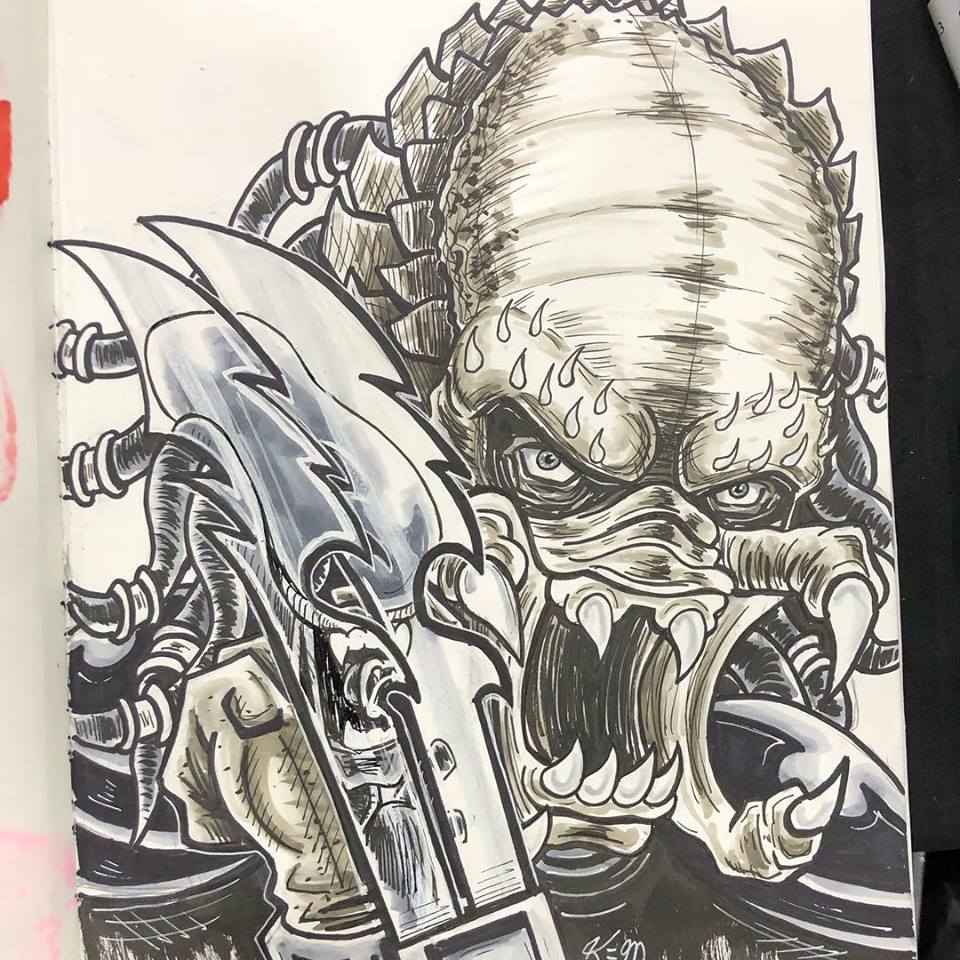 Predator Sketch Cincinatti Comic Expo 18