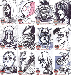 DCE 2019 SKETCH CARDS EXCLUSIVES