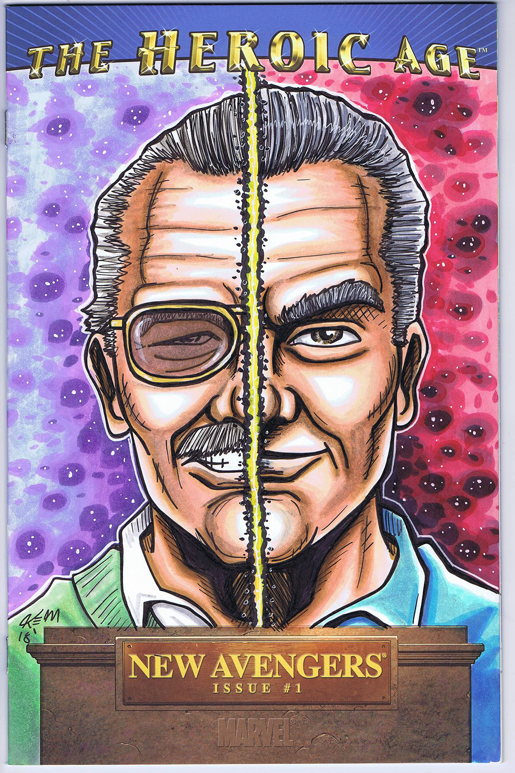 STAN LEE JACK KIRBY SKETCH COVER
