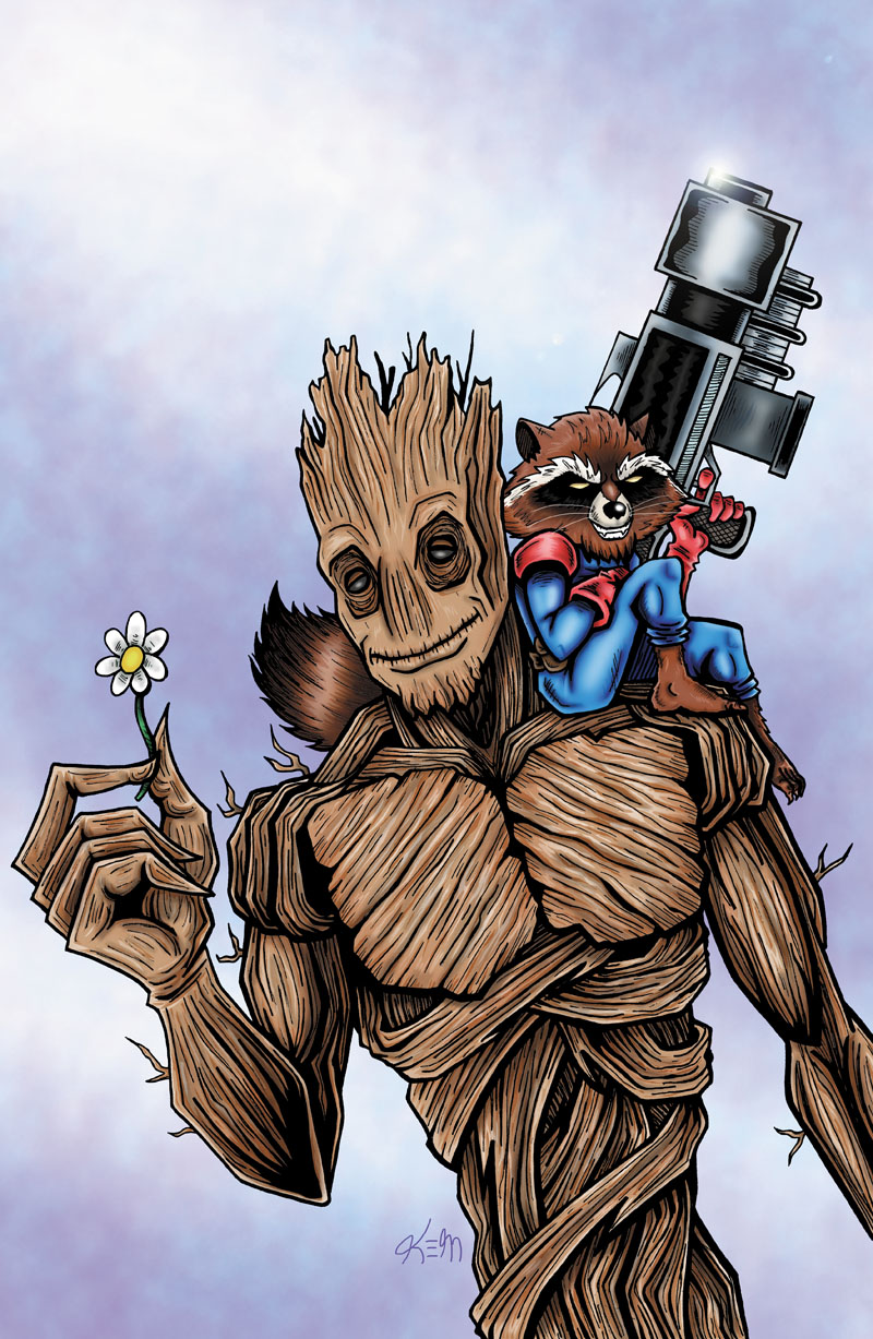groot rocket copy