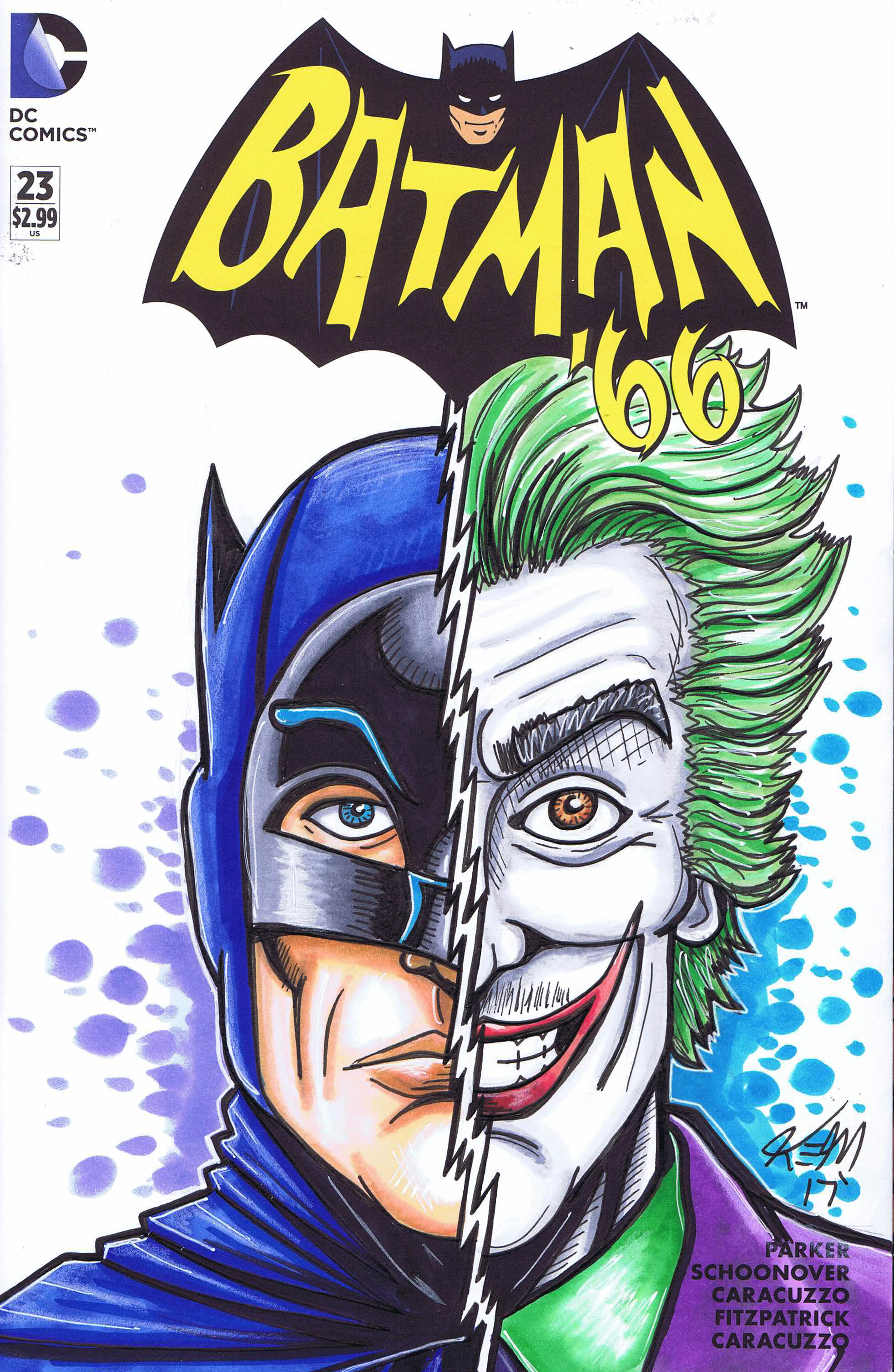batman 66 sketch cover