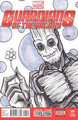 groot sketch cover