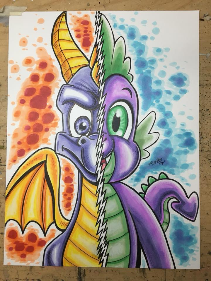 Spyro Spike Commission