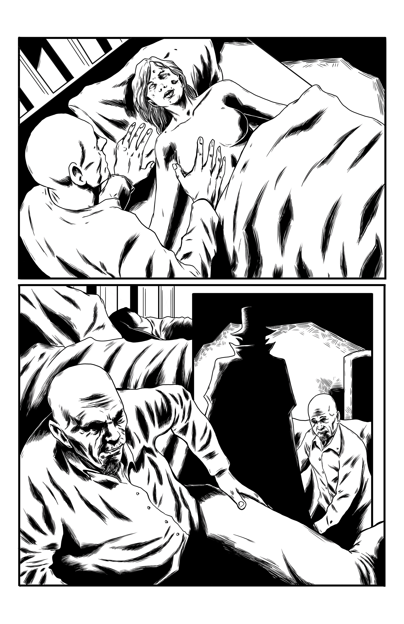 Crimson Shadows issue 1 page 6 inks