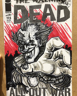 Pennywise zombie Sketch Cover SDCC