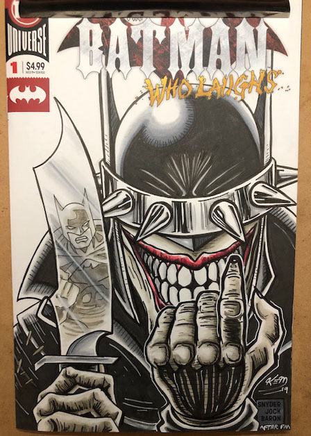 batman who laughs sketch cover