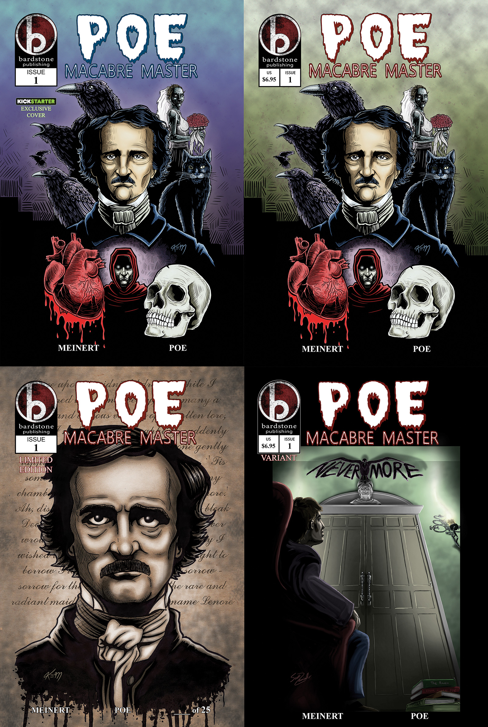 Poe Macabre Master issue #1 covers
