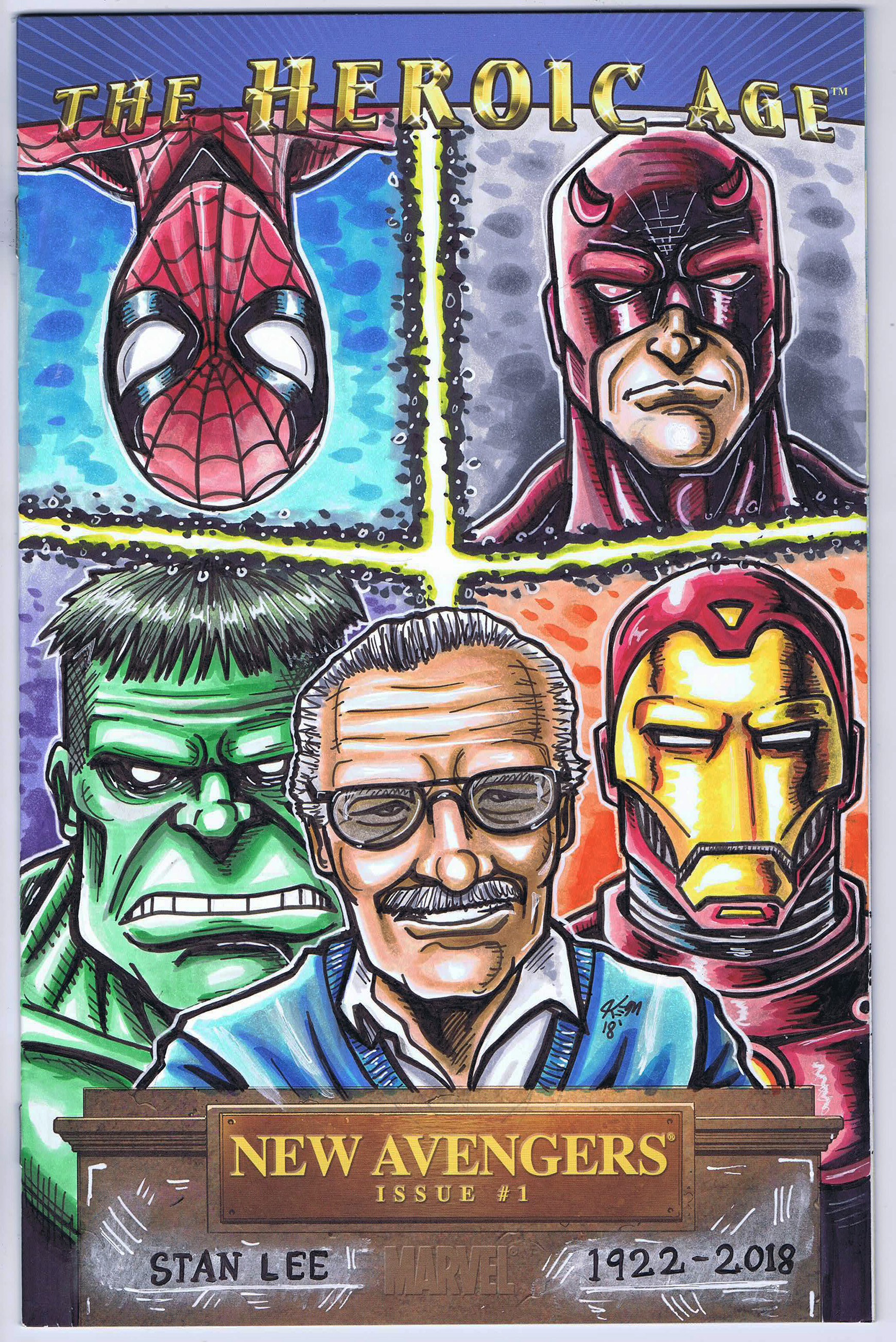 stan lee sketch cover 2