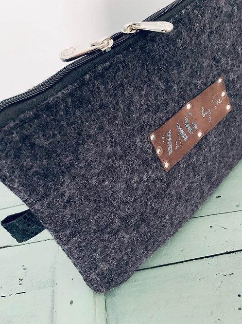 Pochette laine bouille gris anthracite (n°13)