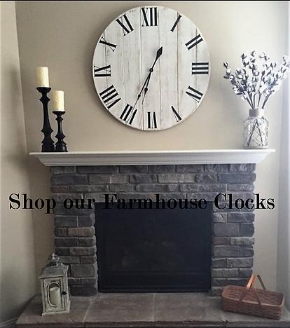 farmhouse clocks and farmhouse furniture