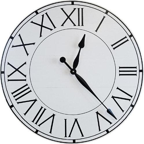 Harper Farmhouse Wall Clock