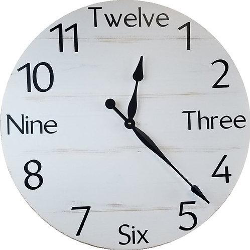Ciara Farmhouse Wall Clock