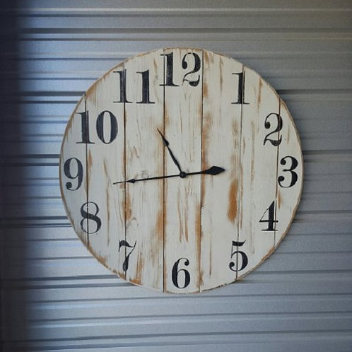 The Shannon Farmhouse Wall Clock