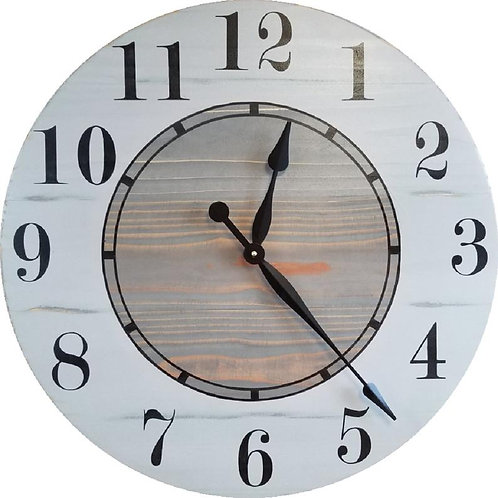 Aurora Farmhouse Wall Clock