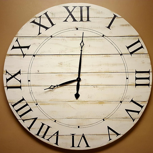 The Norah farmhouse wall clock