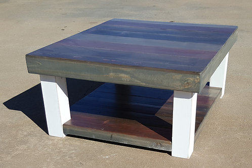The Osage Farmhouse Coffee Table with Lower Shelf
