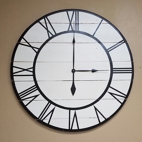 The Harlow Farmhouse Wall Clock