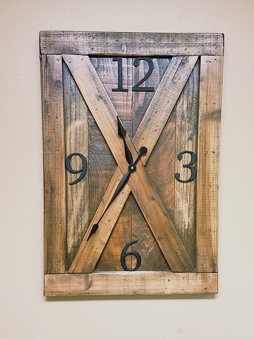 The Barn Door Farmhouse Wall Clock