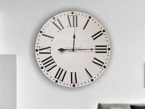 The Maxwell Farmhouse Wall Clock