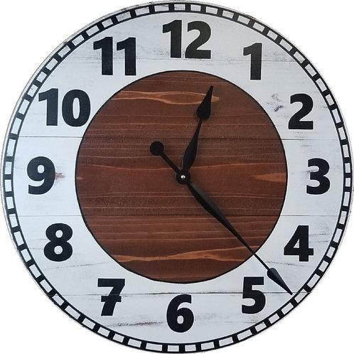 Nevaeh Farmhouse Wall Clock