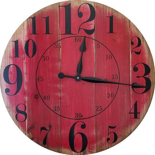 Ruby Farmhouse Wall Clock