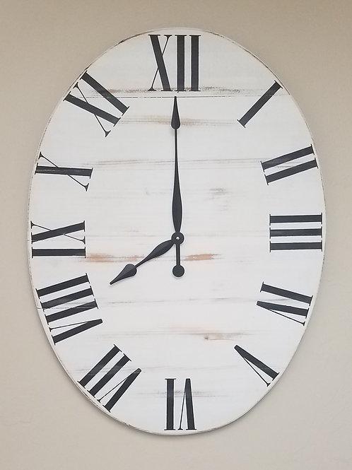 Oval Classic Farmhouse Wall Clock