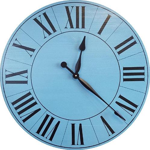 Violet Farmhouse Wall Clock
