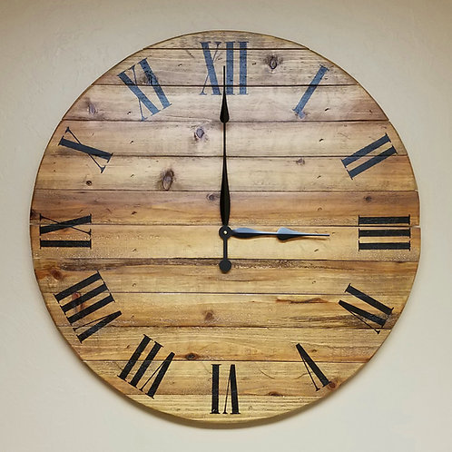 The Chloe Farmhouse Wall Clock