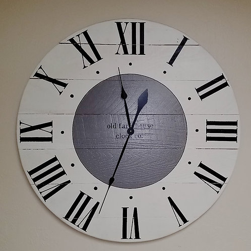 The Elizabeth Farmhouse Wall Clock