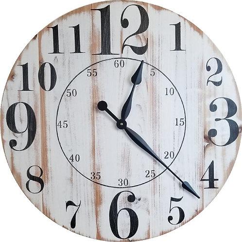 Piper Farmhouse Wall Clock