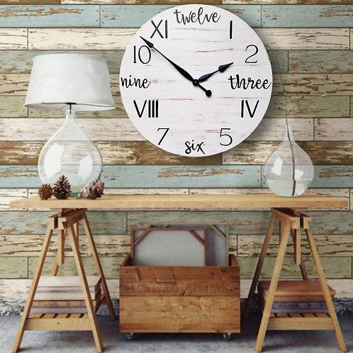 Isabella Farmhouse Wall Clock