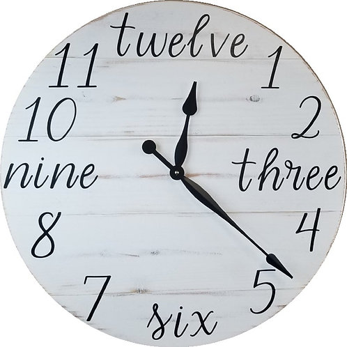 Lovecraft Farmhouse Wall Clock