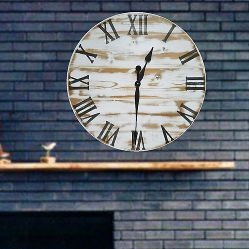 The Vivian Farmhouse Wall Clock