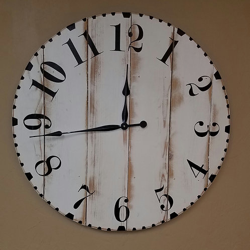 The Hannah Farmhouse Wall Clock