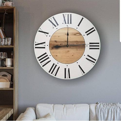 The Nicole Farmhouse Wall Clock