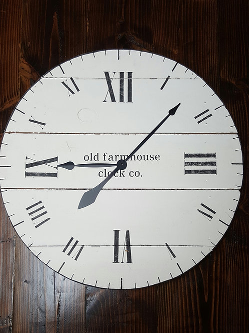 The Aaron Farmhouse Wall Clock