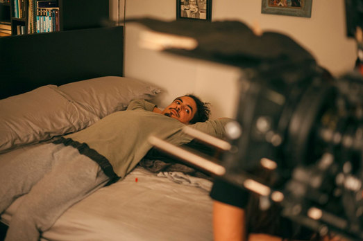 In between takes of Evidence film by Ananda Ferrari