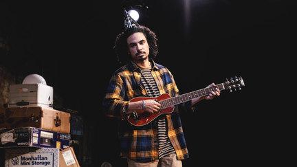 John Maria Gutierrez as Matt in Floor Is Lava at La Mama 2019, directed by Glory Kadigan