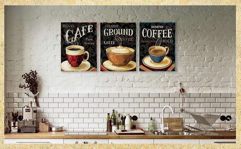 Placa decora o retro vintage xicara caf cozinha - Laminas decorativas para cocinas ...