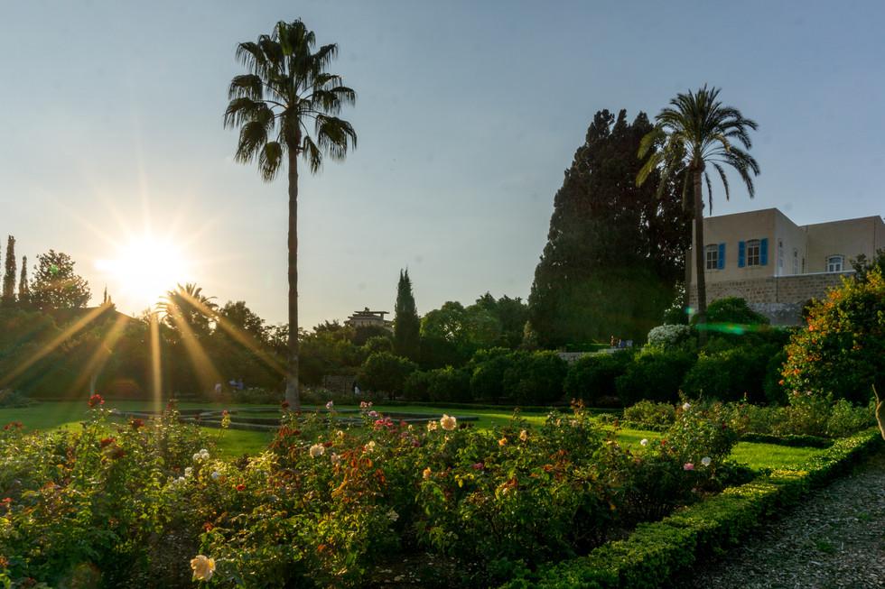 Vista della Magione e dei giardini