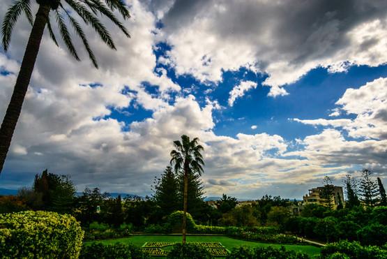 Vista dei giardini dalla Magione