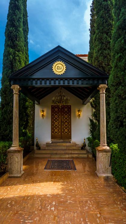 Entrata del Mausoleo di Bahá'u'lláh (giorno)