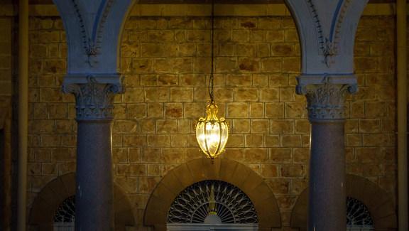 Vista frontale del Mausoleo