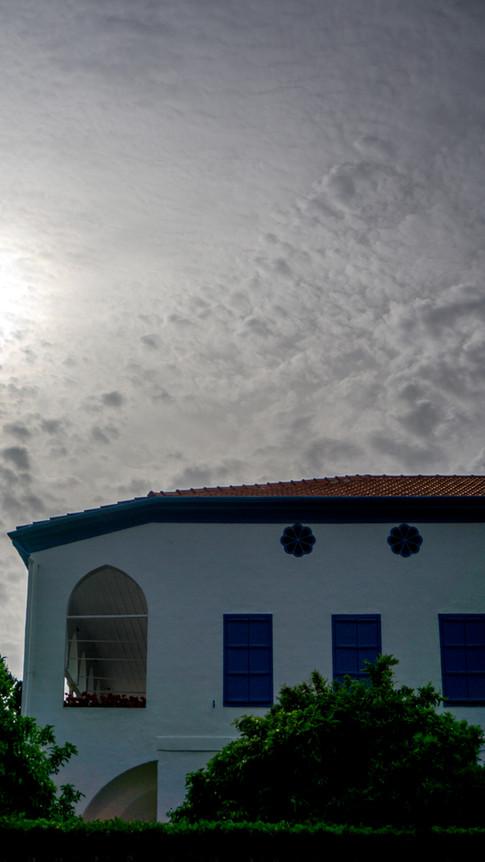 Vista del cuarto donde Bahá'u'lláh utilizó