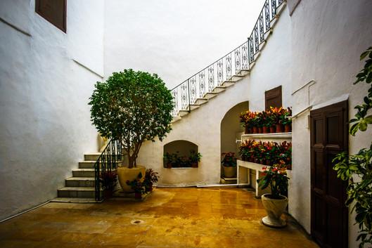 Patio interior de la casa